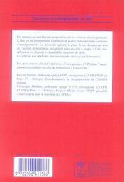 Les Contenus D'Enseignement En Eps ; Des Contenus Adaptes : Objets De Regulation ; Exemple En Hanball Et En Tennis De Table - 4ème de couverture - Format classique
