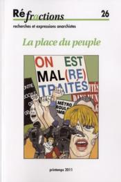 Vente livre :  Refractions N.26 ; La Place Du Peuple  - Refractions