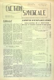 Action Syndicale (L') N°10 du 01/02/1961 - Couverture - Format classique