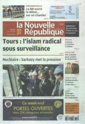 Nouvelle Republique (La) N°20505 du 27/03/2012 - Couverture - Format classique
