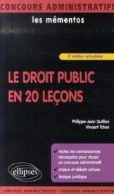 Le droit public en 20 leçons (3e édition) - Couverture - Format classique