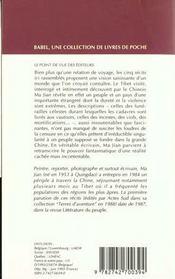 La mendiante du shigatze - 4ème de couverture - Format classique