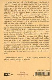 Bruit Du Temps (Le) - 4ème de couverture - Format classique