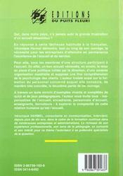 L'Accueil En Entreprise. Comment Organiser Et Encadrer L'Accueil En Entreprise - 4ème de couverture - Format classique