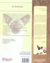 Le Siamois - 4ème de couverture - Format classique