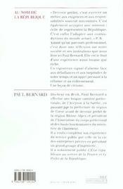 Au Nom De La Republique - 4ème de couverture - Format classique
