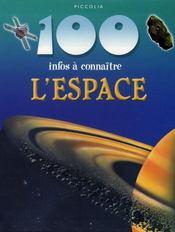 100 Infos A Connaitre ; L'Espace - Intérieur - Format classique