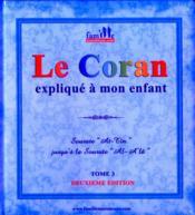 Le Coran expliqué à mon enfant t.3 - Couverture - Format classique