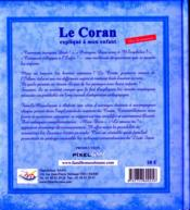 Le Coran expliqué à mon enfant t.3 - 4ème de couverture - Format classique