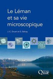 Le Léman et sa vie microscopique - Couverture - Format classique