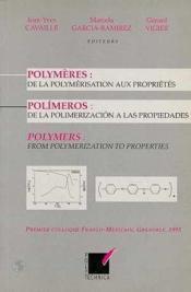 Polymeres ; De La Polymeris - Couverture - Format classique