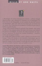 Montaigne, notre nouveau philosophe - 4ème de couverture - Format classique