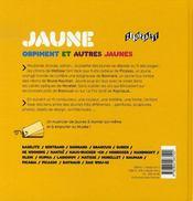 Jaune orpiment et autres jaunes - 4ème de couverture - Format classique