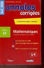 Annales Corrigees T.15 ; Enseignement Obligatoire Et Specialite (édition 2006) - Couverture - Format classique