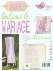 Tout pour le mariage ; patchwork et broderie - 4ème de couverture - Format classique