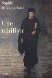 Une nihiliste - Couverture - Format classique