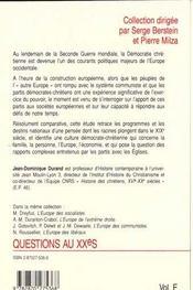 L'Europe De La Démocratie Chrétienne - 4ème de couverture - Format classique
