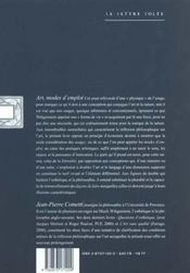 Art Modes D'Emploi - 4ème de couverture - Format classique