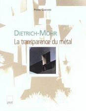 Dietrich mohr - Intérieur - Format classique