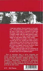 En Plein Faubourg - 4ème de couverture - Format classique
