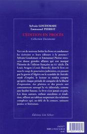 Les Grands Proces D'Edition - 4ème de couverture - Format classique