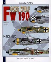 Focke-Wulf 190 ; de 1939 à 1945 - Couverture - Format classique