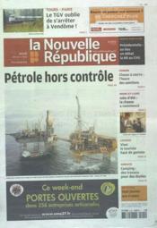 Nouvelle Republique (La) N°20507 du 29/03/2012 - Couverture - Format classique