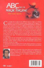 Abc De La Magie Tsigane - 4ème de couverture - Format classique