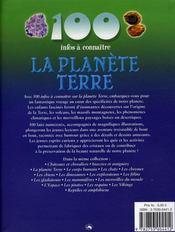 100 Infos A Connaitre ; La Planète Terre - 4ème de couverture - Format classique