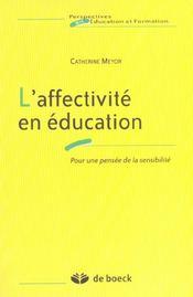 Affectivite En Education (L') - Intérieur - Format classique