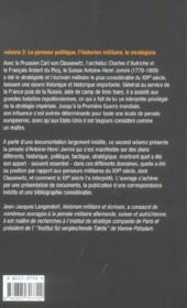 Faire La Guerre Antoine Henri Jomini Volume 2 - 4ème de couverture - Format classique