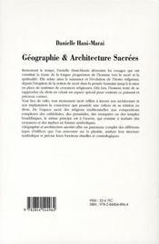 Geographie Et Architecture Sacree ; L'Homme Face Au Cosmos - 4ème de couverture - Format classique