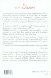 Théologie spirituelle t.3 ; vie contemplative - 4ème de couverture - Format classique