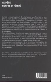 Le Pere, Figures Et Realite - 4ème de couverture - Format classique