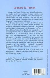 Leonard Le Toscan - 4ème de couverture - Format classique