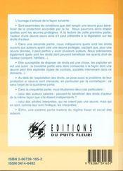 Auteurs, Artistes, Compositeurs... : Tous Vos Droits. Oeuvres Ecrites, Orales, Musicales, D'Arts Pla - 4ème de couverture - Format classique