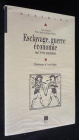 Esclavage Guerre Et Economique En Grece - Couverture - Format classique