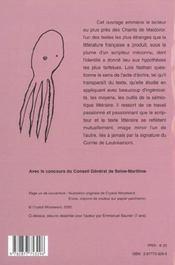 Le Scripteur Et Ses Signifiants En Six Chants ; Le Miroir Brise De Maldoror ; Semiotique Pour Lautreamont - 4ème de couverture - Format classique