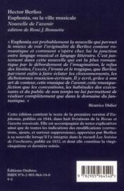 Euphonia ou la ville musicale - 4ème de couverture - Format classique