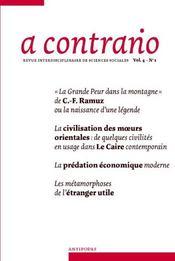 Revue A Contrario N.1/4 - Intérieur - Format classique
