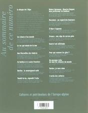 L'Alpe 13 - Les Chants D'Un Monde - 4ème de couverture - Format classique