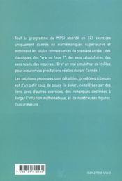 Le Simulateur De Kholles De Maths 723 Exercices Corriges De Mathematiques En Mpsi - 4ème de couverture - Format classique