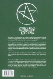 Symbolisme Esoterique Code - 4ème de couverture - Format classique