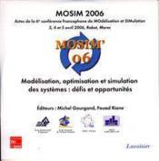 Mosim 2006 : modelisation, optimisation et simulation des systemes : defis et opportunites (actes de - Couverture - Format classique
