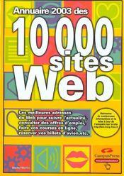 Annuaire 2003 Des 10000 Sites Web - Intérieur - Format classique