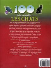 100 Infos A Connaitre ; Les Chats - 4ème de couverture - Format classique