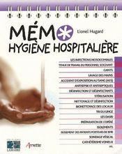 Mémo hygiène hospitalière - Intérieur - Format classique