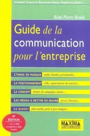 Guide communica entreprise 3ed (6e édition) - Intérieur - Format classique