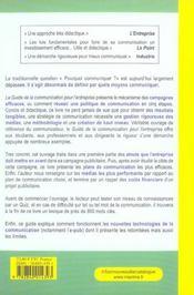 Guide communica entreprise 3ed (6e édition) - 4ème de couverture - Format classique