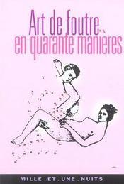 Art De Foutre En Quarante Manieres - Intérieur - Format classique